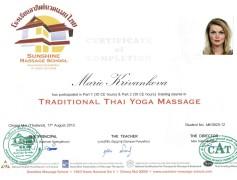Masérka Brno - Certifikát thajské masáže