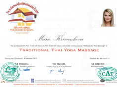 Certifikát maséra - Masérka Brno